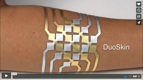 DuoSkin – Cindy Hsin-Liu Kao, Asta Roseway*, Christian Holz*, Paul Johns*, Andres Calvo, Chris Schmandt.  MIT Media Lab in collaboration with Microsoft Research*