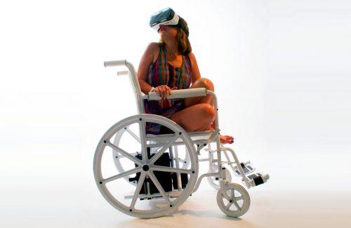 Virtual Reality in a Wheelchair..